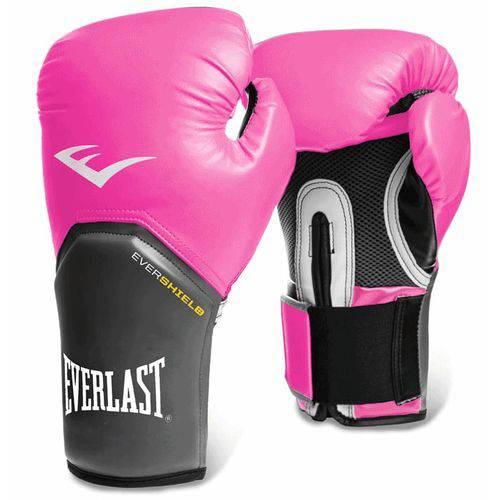Luva Everlast Boxe Ever Shield Pro Style Elite 12 Oz Rosa