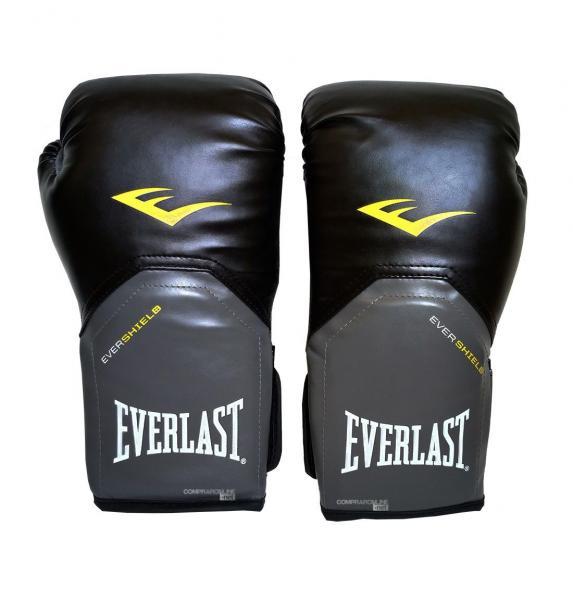Luva Muay Thai Boxe 12 Oz Everlast Pro Style Preta
