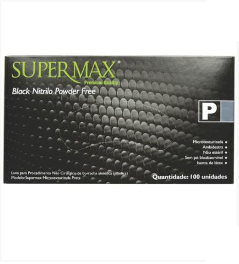 Luva Supermax Nitr. Black P