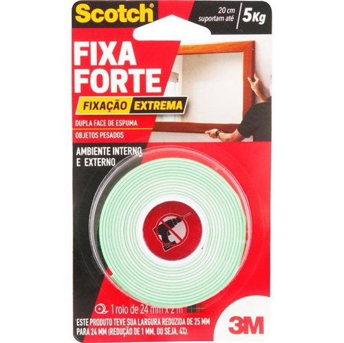 3M - Fita Dupla Face - Fixa Forte Extreme - 24mm X 2m - 10.46.002.520