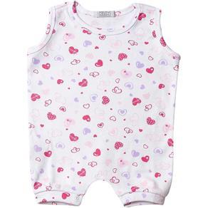 Macacão Bebê Regata Feminino - M - Branco