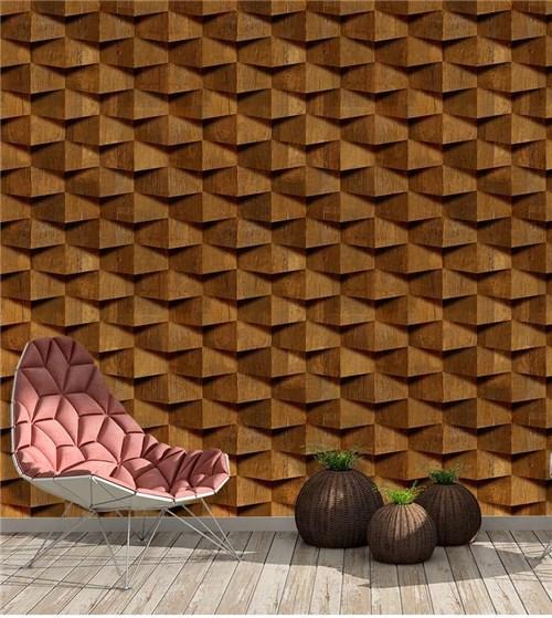 Madeira 3D- Papel de Parede - LE743239-1