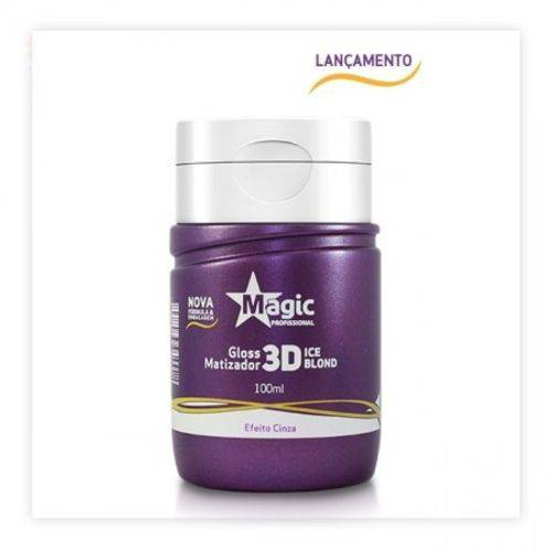 Magic Color Gloss Matizador 3D Ice Blond Efeito Cinza 100 Ml