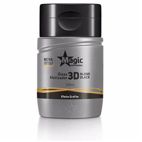 Magic Matizador Gloss 3D Blond Black Efeito Grafite - 100ml