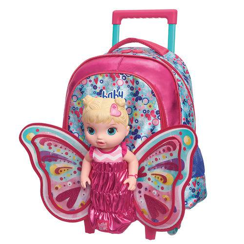 Tudo sobre 'Mala C/carrinho G Baby Alive Butterfly'
