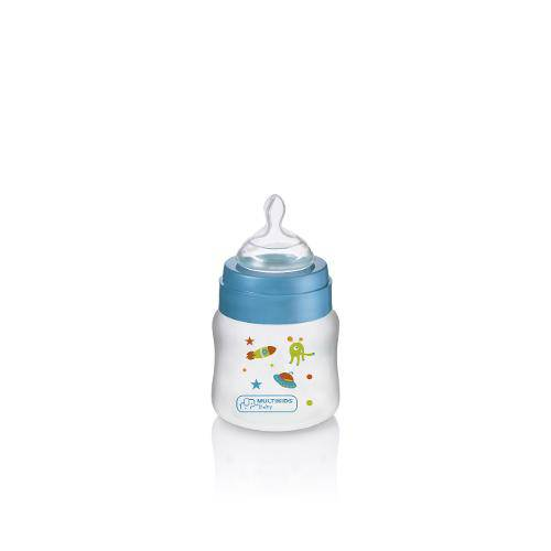 Tudo sobre 'Mamadeira Boys And Girls Pp Azul Ortonatural 125ml - Bb103'
