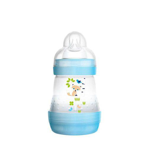 Tudo sobre 'Mamadeira Boys Easy Start First Bottle 160ml MAM Azul'