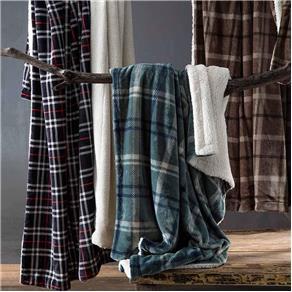 Manta Escócia Home Design Casal Bege