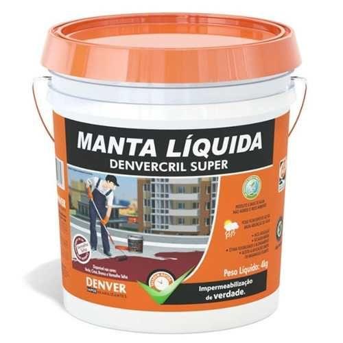 Manta Líquida Impermeabilizante Denvercril Super Cinza 4 Kg