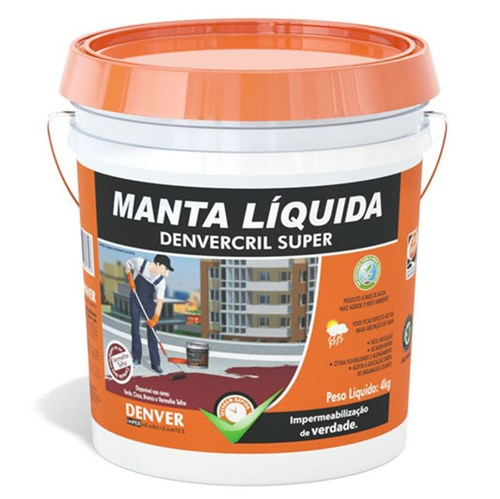 Manta Líquida Pintura Impermeabilizante Denvercril Super Branco 4Kg Denver