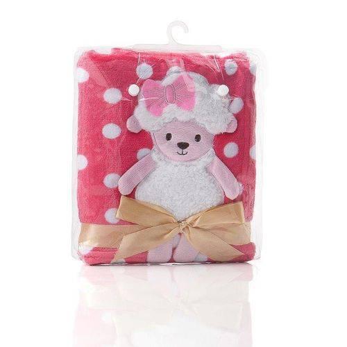 Tudo sobre 'Manta Soft Bebê Bordada Pink'