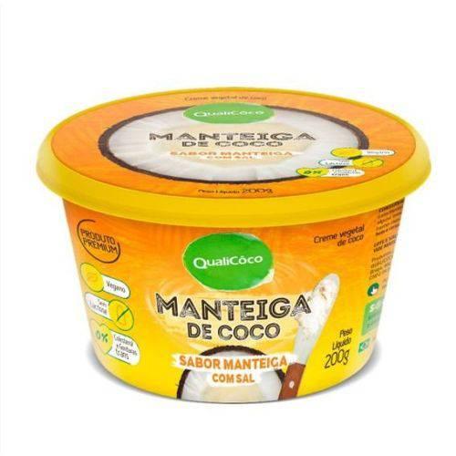 Tudo sobre 'Manteiga de Coco Qualicoco 200g Natural com Sal'