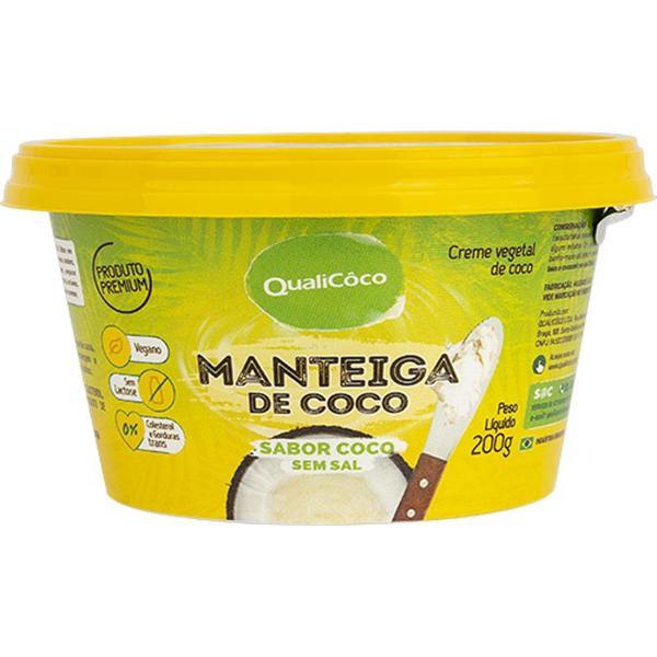 Manteiga de Coco Sabor Coco Sem Sal 200g - Qualicoco