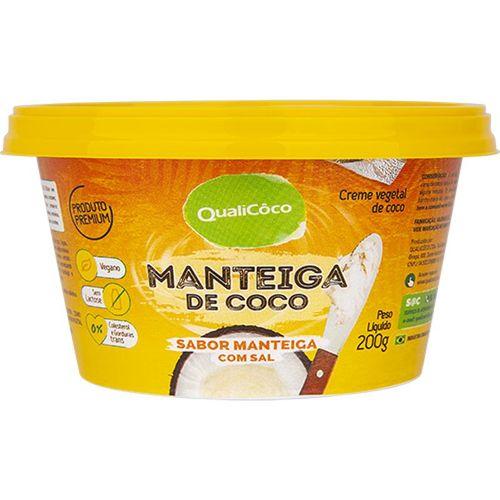 Manteiga de Coco Sabor Manteiga com Sal 200g - Qualicoco
