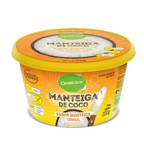 Manteiga de Coco Sabor Manteiga com Sal Qualicoco 200g - 200G