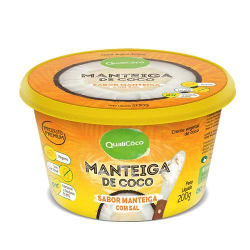 Manteiga de Coco Sabor Manteiga com Sal Qualicôco 200g