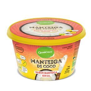 Manteiga de Coco Sabor Manteiga Sem Sal Qualicoco 200g - 200G