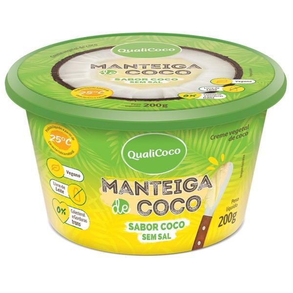 Manteiga de Coco Sem Sal Sabor Coco 200g - QualiCôco - Qualicoco