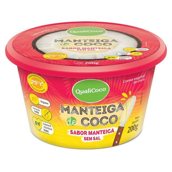 Manteiga de Coco Sem Sal Sabor Manteiga 200g - QualiCôco - Qualicoco
