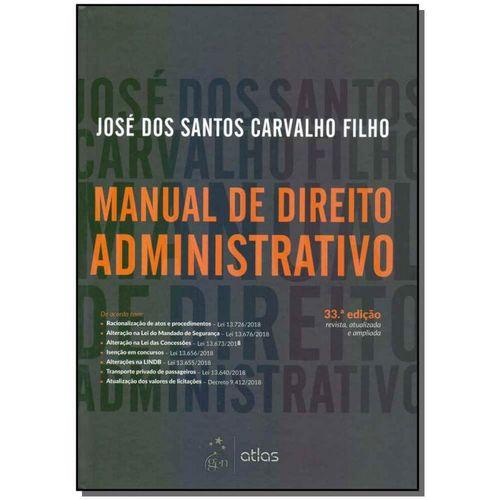 Manual de Direito Administrativo - 33ed/19