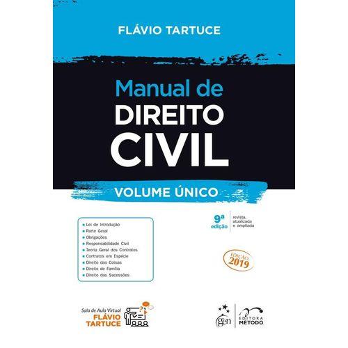 Manual de Direito Civil - Volume Único - 2019