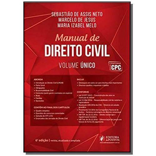 Tudo sobre 'Manual de Direito Civil - Volume Unico 05'