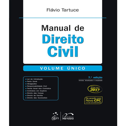 Manual de Direito Civil - Volume Unico - 07 Ed