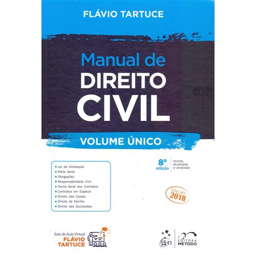 Manual de Direito Civil - Volume Unico - 08ed/18