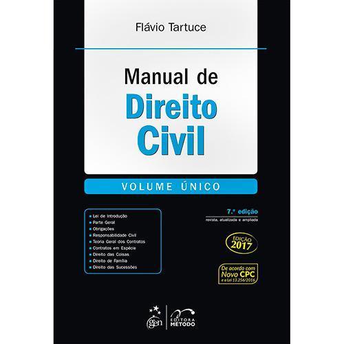 Manual de Direito Civil - Volume Único - 7ª Ed.
