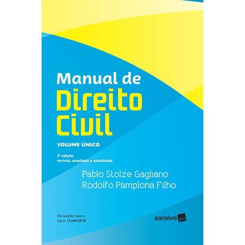 Manual de Direito Civil - Volume Único - 3ª Ed. 2019