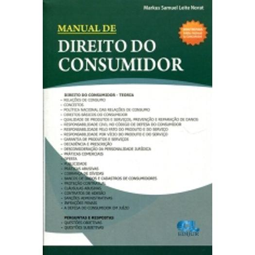 Manual de Direito do Consumidor - Edijur