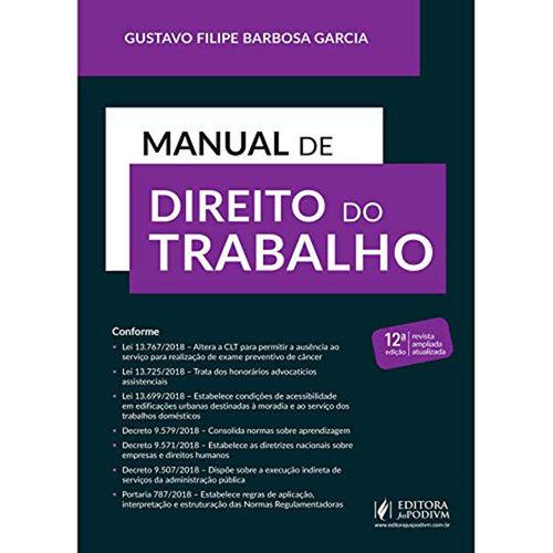 Manual de Direito do Trabalho - 12ª Edição (2019)