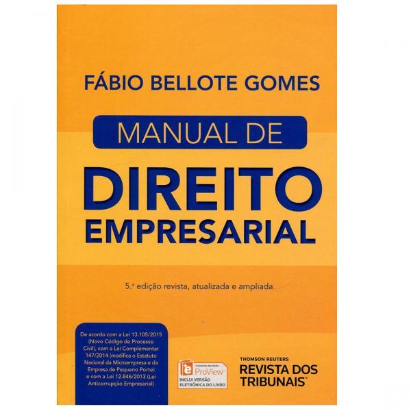 Manual de Direito Empresarial - Rt - 952571