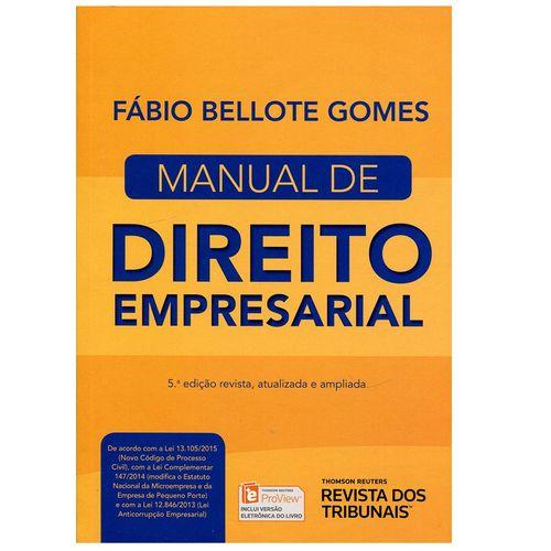 Manual de Direito Empresarial - Rt