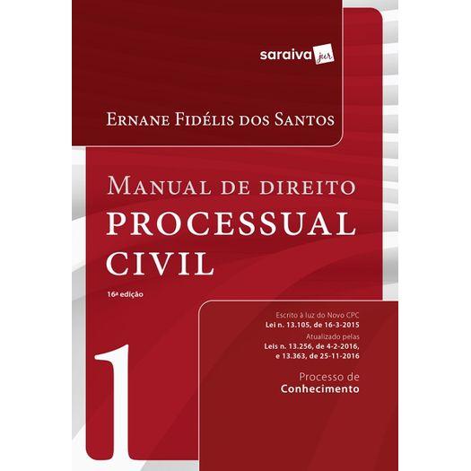 Manual de Direito Processual Civil - Vol 1 - Saraiva