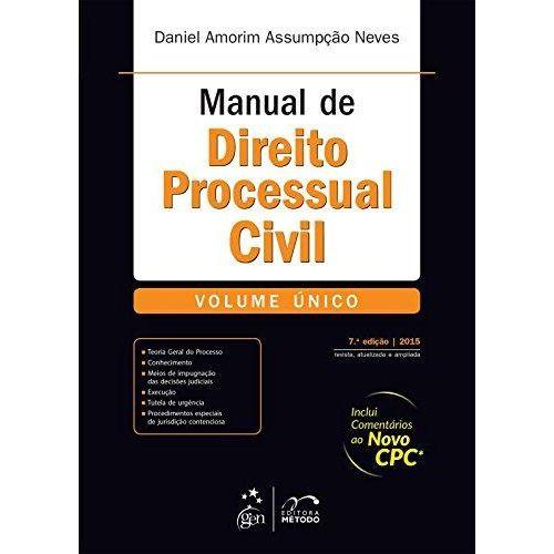 Manual de Direito Processual Civil - Volume Unico - 07 Ed