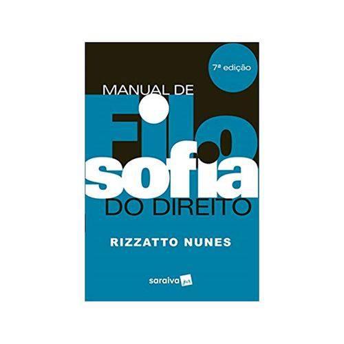 Manual de Filosofia do Direito 7ªed. - Saraiva