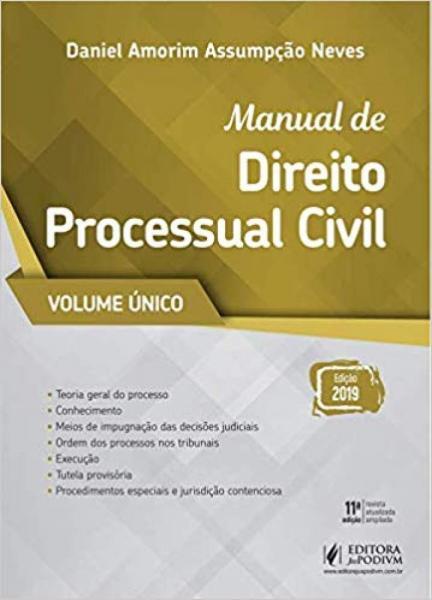 Manual de Processo Civil: Vol. Único - Juspodivm