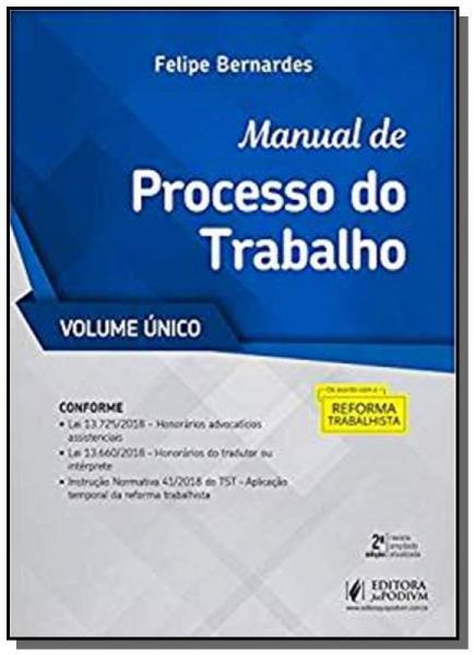 Manual de Processo do Trabalho  02 - Juspodivm