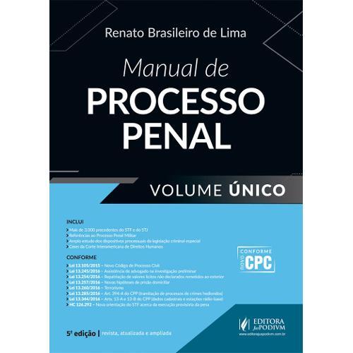 Manual de Processo Penal (2017) - Volume Único