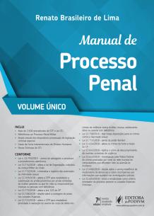 Tudo sobre 'Manual de Processo Penal - Vol. Único (2019)'