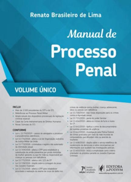 Manual de Processo Penal - Volume Unico - 2019 - Juspodivm