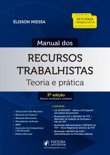 Tudo sobre 'Manual dos Recursos Trabalhistas (2018)'