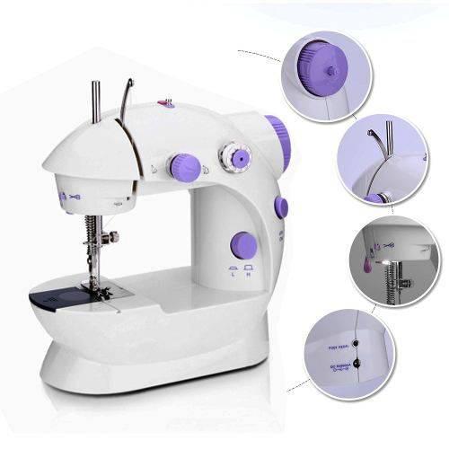 Tudo sobre 'Maquina Mini Costura Eletrica Portatil Led Luz Acessórios'