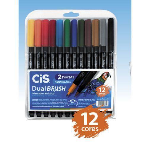 Tudo sobre 'Marcador Artístico Aquarelável Dual Brush - Cis - 12 Cores'