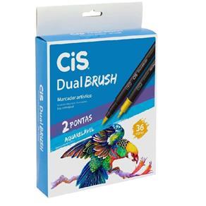 Marcador Artístico Dual Brush Aquarelável Cis 36 Cores
