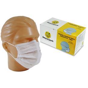 Máscara Cirúrgica Tripla Descartável Caixa C/ 50 Unidades