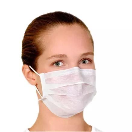 Máscara Cirúrgica Tripla Descartável Descarpack com Elástico 50 Unidades