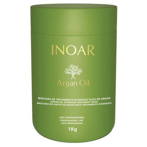 Máscara Hidratante Inoar Argan Oil Resistência e Força para Cabelos Danificados 1kg