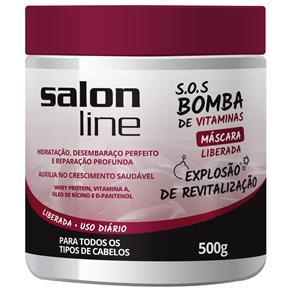 Tudo sobre 'Máscara S.O.S Bomba de Vitaminas Liberada Explosão de Revitalização 500g Salon Line'